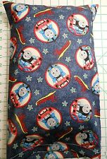 THOMAS train engine #1 blue Small Pillow Case with Travel / Toddler Pillow