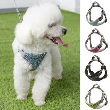 Back-clip & Step-in Dog Harness and Lead Set Small Medium Large Soft Padded Vest