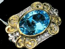 NWOT  MICHAEL VALITUTTI  GEMS EN VOGUE NH BRIGHT BLUE TOPAZ RING  5.5  13.1G