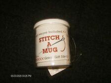 Stitch A Mug Cross Stitch Fabric Insert 14 Count New Crafts Cup Gift