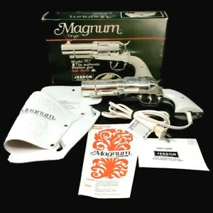 Magnum 357 Revolver Hair Dryer Jerdon Pearl Handle Holster Realistic Styler Gun