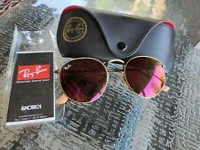 Ray Ban RB3447 Round Metal Bronze Frame/Red Flash Lenses 167/2K 50mm