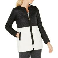 CALVIN KLEIN NEW Women's Performance Plus Faux Sherpa Quilted Jacket Top TEDO