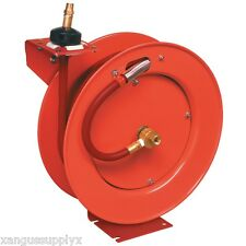 Professional Heavy Duty Retractable Air Hose Reel Assembly 50' Foot X 1/2""