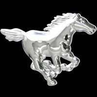3D Chrom Emblem Aufkleber Logo Mustang Pferd Stallion Hengst reiten Reiter L048