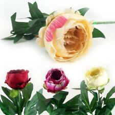 Silk Peony Wedding Single Flowers