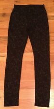 NWOT Seven 7 For All Mankind BLACK LACE Skinny Jeans Womens 23 x 28