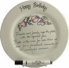 95th Birthday Gift Signature Plate (Rd) (Sweet Pea)