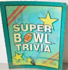 Score Super Bowl Trivia Vintage 1990 Trivia Card Game Lot of 36 Cards