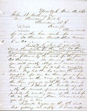 Civil War Letter Providence RI 1861 20 & 30 POUNDER PARROT GUNS Wiard Artillery!