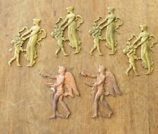 A COLLECTION 6 VICTORIAN BRASS AND COPPER ANTIQUE CASTINGS NEW OLD STOCK