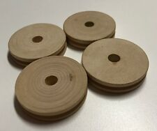 Wooden Tinker Toys Parts Lot: 4 PULLEYS Replacement Tinkertoy Wood Pieces