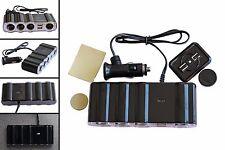 4 Way Cigarette Lighter Socket Adapter Charger Splitter & 2 USB 12V 24V  /4008