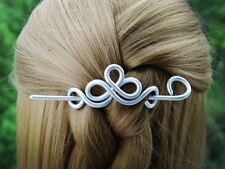 Celtic Small  Silver Hair clip Hair Barrette Wedding Hair Slide Hair Accessories
