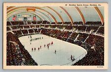 Hershey Pennsylvania PA Sports Arena Hockey Curt Teich Postcard 1938