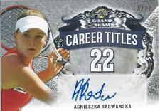 2018 Leaf Grand Slam Tennis AGNIESZA RADWANSKA Autograph Career Titles 5/22