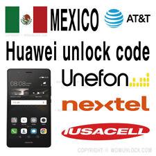 MEXICO AT&T Unefon Nextel Iusacell Unlock Code Huawei P10 Lite Plus Y6 GW Metal