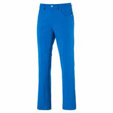 NEW 2018 PUMA 6 POCKET GOLF PANTS ELECTRIC BLUE LEMONADE 36/30