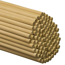 "Wooden Dowel Rods – 1/2"" x 12"" Unfinished Hardwood Sticks For Crafts 25 Pieces"