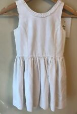 Polo Ralph Lauren Girl White A-Line Textured Sheath Dress Fit & Flare Size 7