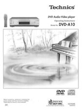 Technics DVD-A10 DVD Player Owners Instruction Manual Reprint