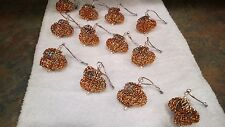 12 HANDMADE CHRISTMAS ORNAMENTS MADE WITH BLING ORANGE
