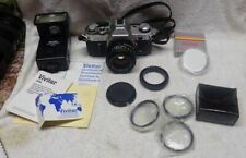 ** Vintage -CANON - AE-1 - 35mm CAMERA outfit w ACCESSORIES - READ - NICE **