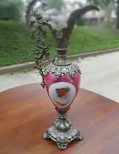Antique Victorian Lady Urn Ewer Beautiful Glass Vase