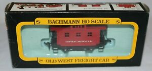 Vintage Bachmann #1419 Old Time Central Pacific 4-Wheel Caboose New Old Stock