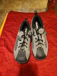Shimano Mens 7.5 (41) Mountain Biking Cycling Shoes SH-MT20D Gray Suede Leather
