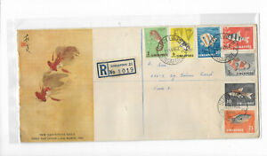 Singapore 1962 Fishes FDC Postally Sent