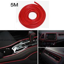 Universal Car Interior Red Edge Gap Line Garnish 5M Point Molding Decor Strips