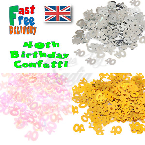 40th Age Birthday Confetti Scatter Table Party Celebration