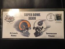 Super Bowl XXXIV Commemorative Envelope-Rams vs. Titans