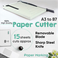 A3 To B7 Paper Photo Cutter Guillotine Safety Lock Sharp Steel Knife Metal Base