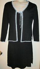 BCBG Maxazria Knit DRESS & JACKET SUIT L Two-Piece LARGE DRESSY Sophistication