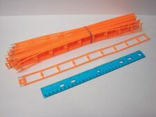 "Micro Knex Track Lot 22 Orange 16"" Straight Pieces w/Pins - Roller Coaster Parts"