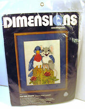 Dimensions Peep & Squeak Mouse Bluebird Needlepoint Kit 2147 Linda Powell New