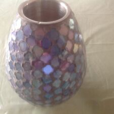 New listing New BirdBrain Tabletop Firepot Mosaic Glass Marrakech Indoor Outdoor Clean Fuel