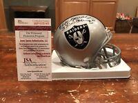 Cliff Branch Autographed Oakland Raiders Mini Helmet 3X SB Champs Witness JSA