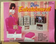 GLORIA Doll HOUSE SZ Furniture ENTERTAINMENT Hi-Fi Speakers PLAYSET FOR BARBIE