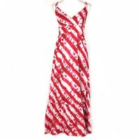 Calypso St Barth For Target Red White Tie-Dye Maxi Dress Size 6