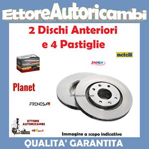 KIT DISCHI + PASTIGLIE ANTERIORI FIAT NUOVA PANDA (169) 2003>2013 BENZINA