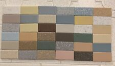 "Lot Of 36 Vintage Salesman's Tile Samples American Olean & Dal-Lite 2""x1"" Mosaic"