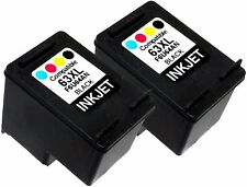 2PK Ink Cartridge For HP 63XL HP63XL F6U64AN Black ENVY 4512 e-All-in-One 4523