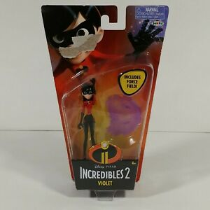 "Disney Pixar The Incredibles 2 Violet 4"" Action Figure Force Field Jakks  NEW"