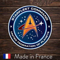 Autocollant Sticker Star Trek Starfleet Command Laptop Mur Smartphone 9cm LSS014