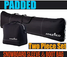 Athletico Padded Two-Piece Snowboard and Boot Bag Combo | Store & Transport Up |