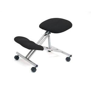 Kneeling Office Chair Steel Framed Castors Gas Lift Charcoal 744387