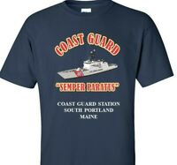 COAST GUARD STATION SOUTH PORTLAND-MAINE COAST GUARD VINYL PRINT SHIRT/SWEAT